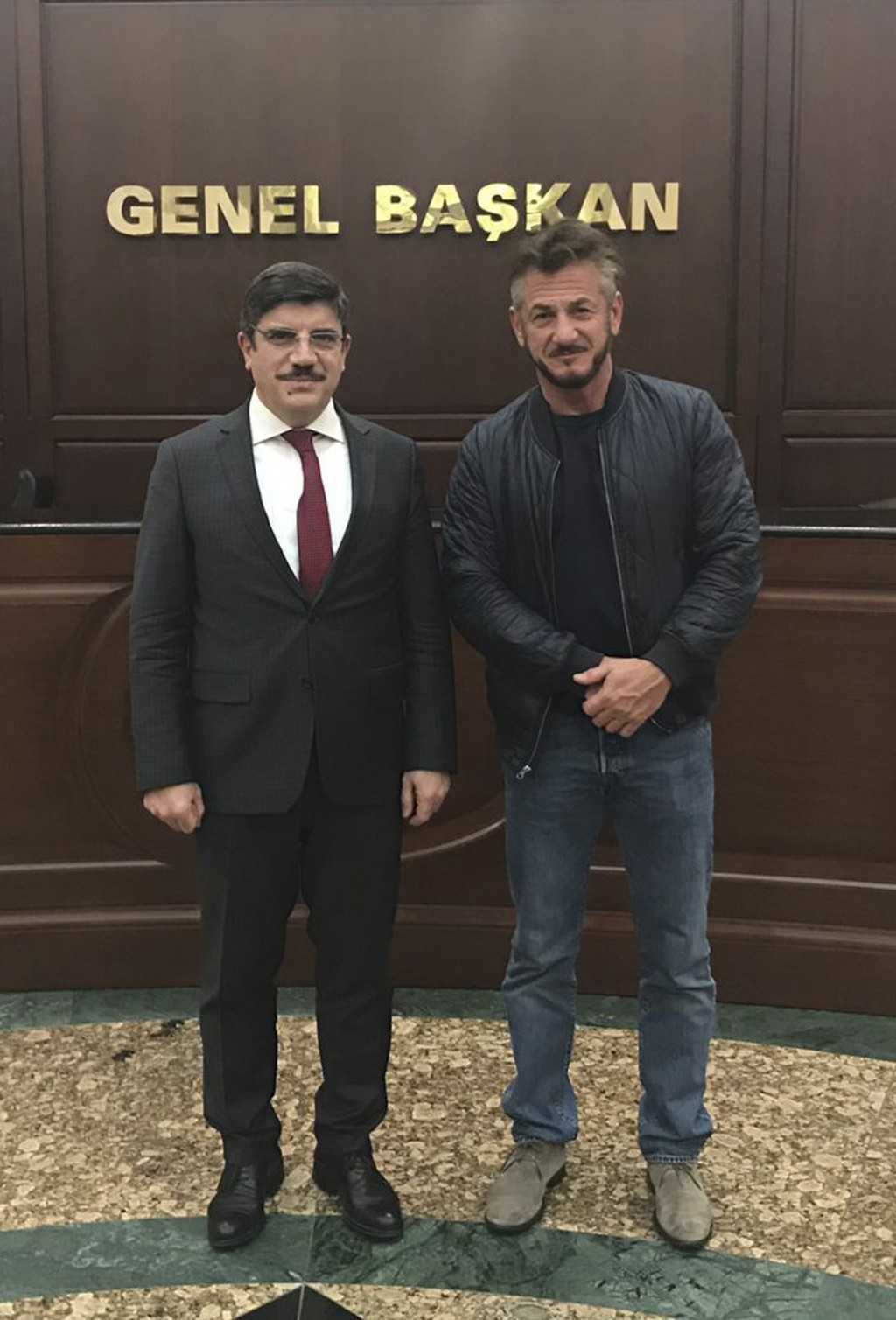 In this Wednesday Dec. 5, 2018 photo made available Thursday by Yasin Aktay, and showing Yasin Aktay an adviser to Turkey's President Recep Tayyip Erd