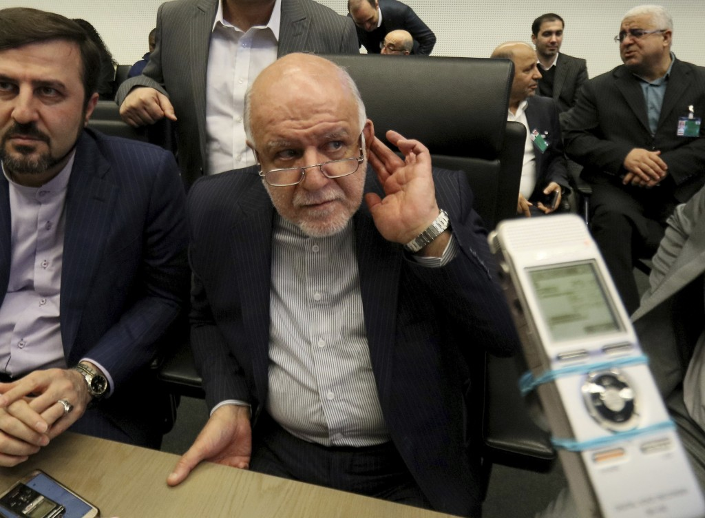 Iran's Minister of Petroleum Bijan Namdar Zangeneh speaks prior to the start of a meeting of the Organization of the Petroleum Exporting Countries, OP
