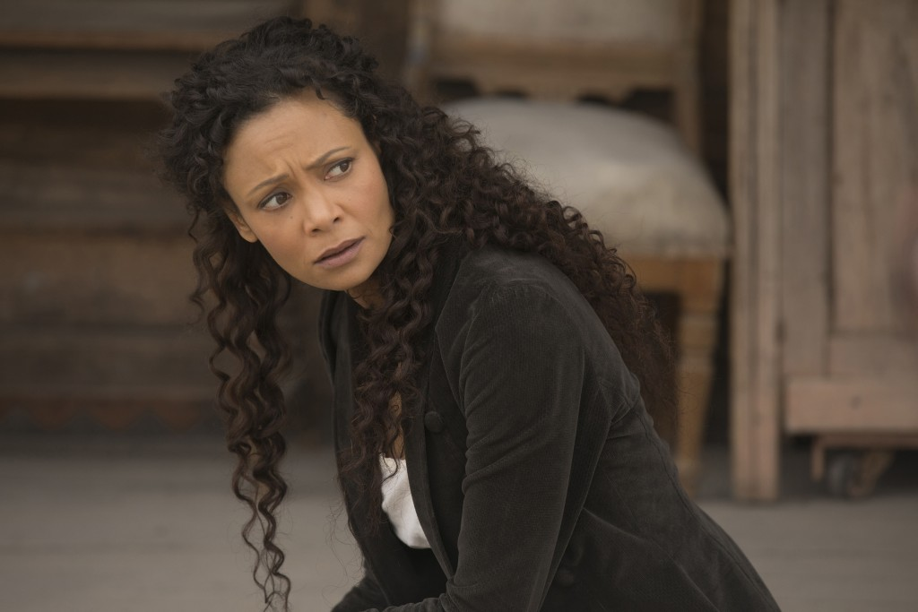 "This image released by HBO shows Thandie Newton in a scene from ""Westworld."" On Thursday, Dec. 6, 2018, Newton was nominated for a Golden Globe award"