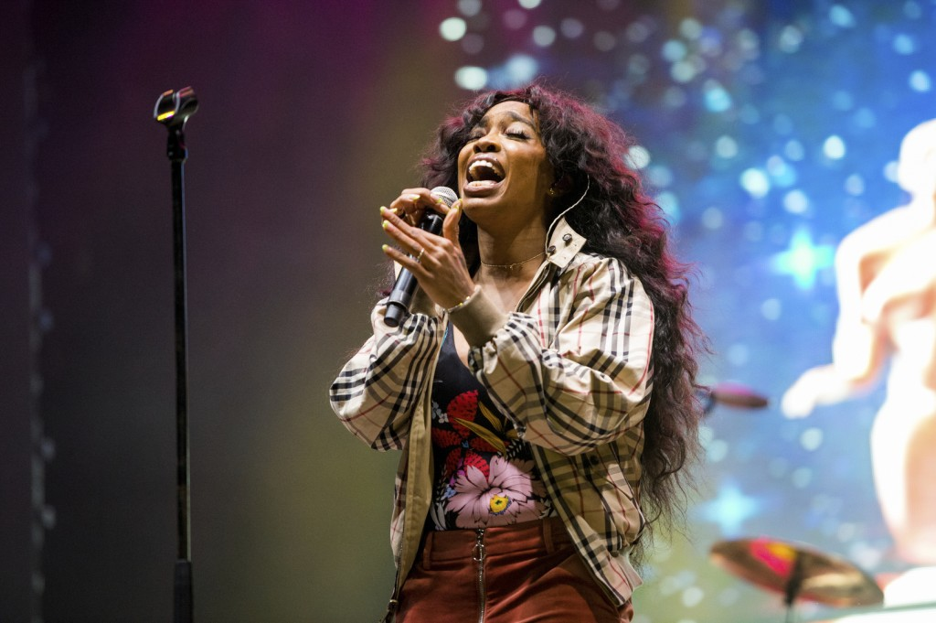 FILE - In this March 9, 2018 file photo, SZA performs at the 2018 BUKU Music + Art Project at Mardi Gras World in New Orleans. A list of nominees in t