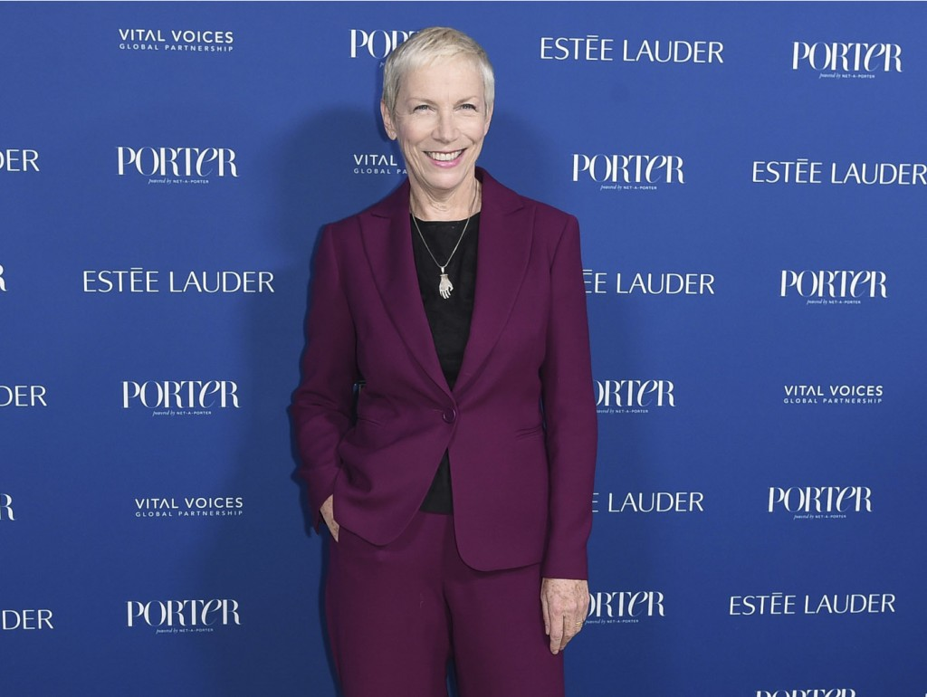 FILE - In this Oct. 9, 2018 file photo, musician Annie Lennox attends Porter's 3rd Annual Incredible Women Gala in Los Angeles. Lennox was nominated f