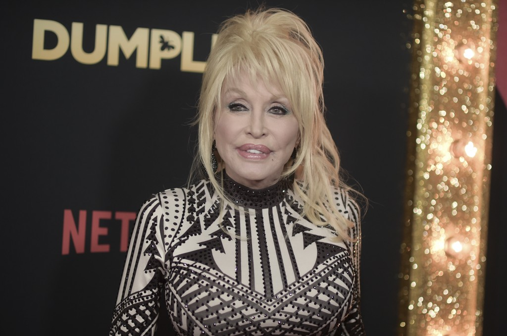 "Dolly Parton attends the world premiere of ""Dumplin'"" at TCL Chinese Theatre on Thursday, Dec. 6, 2018, in Los Angeles. (Photo by Richard Shotwell/Inv"