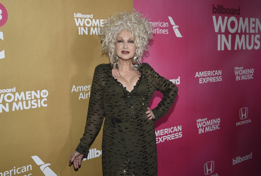 Cyndi Lauper attends the 13th annual Billboard Women in Music event at Pier 36 on Thursday, Dec. 6, 2018, in New York. (Photo by Evan Agostini/Invisio