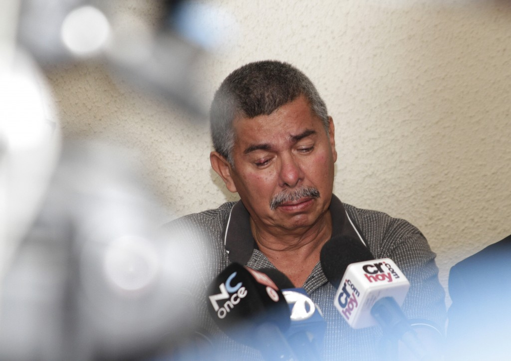 Carlos Caceido, the father of U.S. tourist Carla Stefaniak, speaks about having to identify his daughter's body at the morgue, during a press conferen