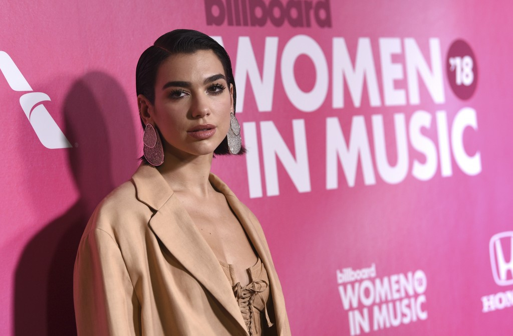 Dua Lipa attends the 13th annual Billboard Women in Music event at Pier 36 on Thursday, Dec. 6, 2018, in New York. (Photo by Evan Agostini/Invision/AP