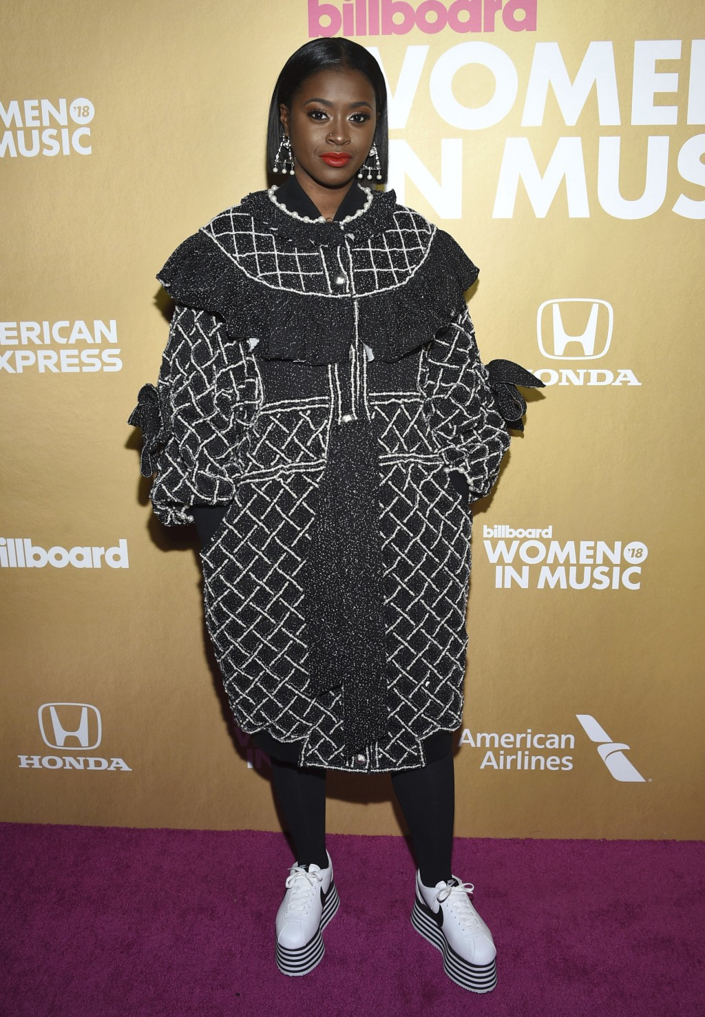 Tierra Whack attends the 13th annual Billboard Women in Music event at Pier 36 on Thursday, Dec. 6, 2018, in New York. (Photo by Evan Agostini/Invisio