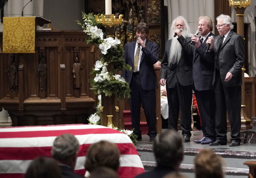 "The Oak Ridge boys sing ""Amazing Grace"" during a funeral service for former President George H.W. Bush at St. Martin's Episcopal Church Thursday, Dec."