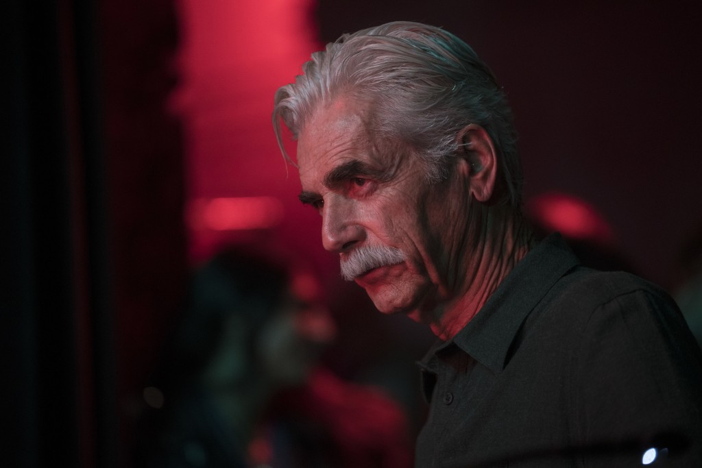 """This image released by Warner Bros. shows Sam Elliott in a scene from the latest reboot of the film, """"A Star is Born."""" The veteran character actor del"""