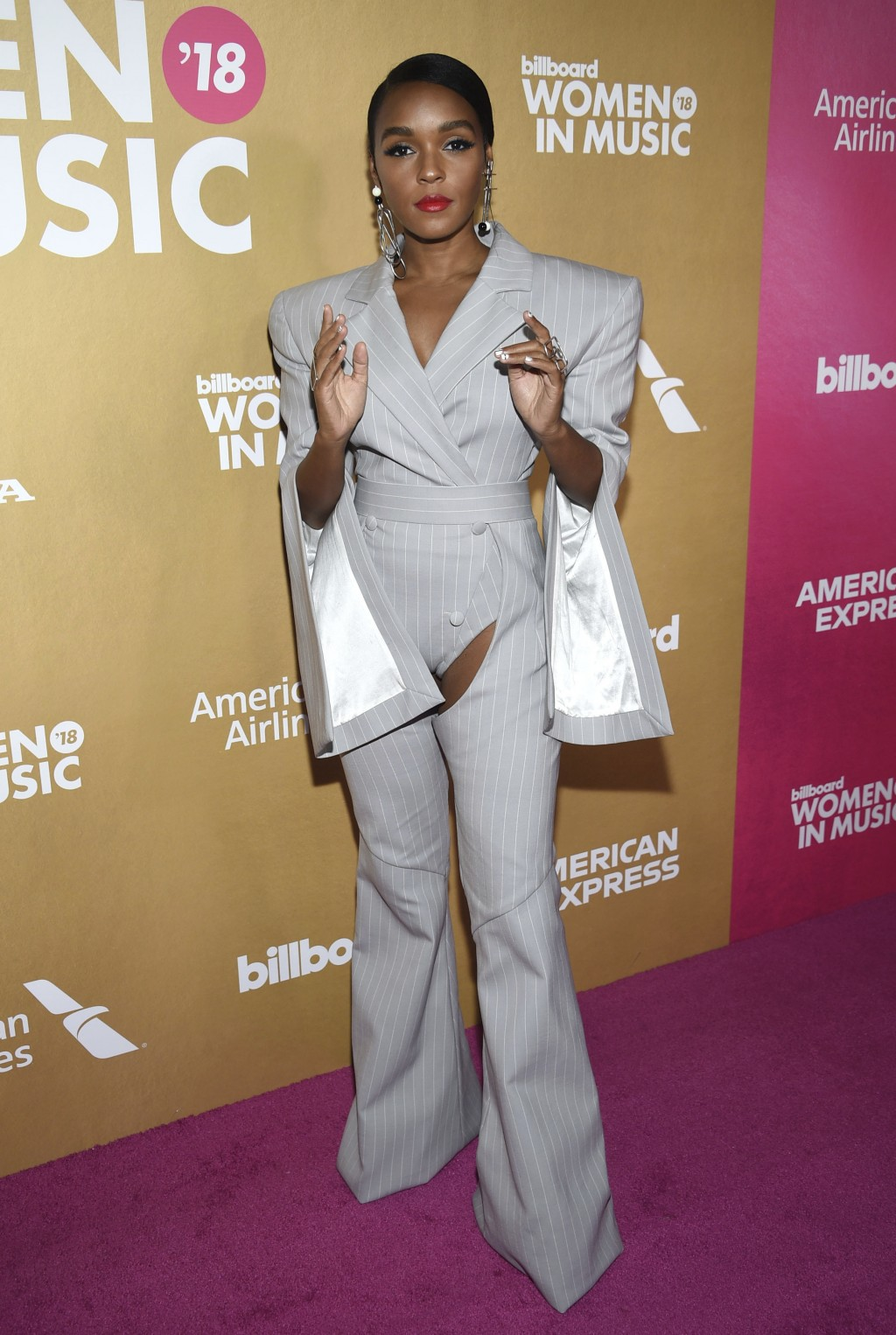 Janelle Monae attends the 13th annual Billboard Women in Music event at Pier 36 on Thursday, Dec. 6, 2018, in New York. (Photo by Evan Agostini/Invisi