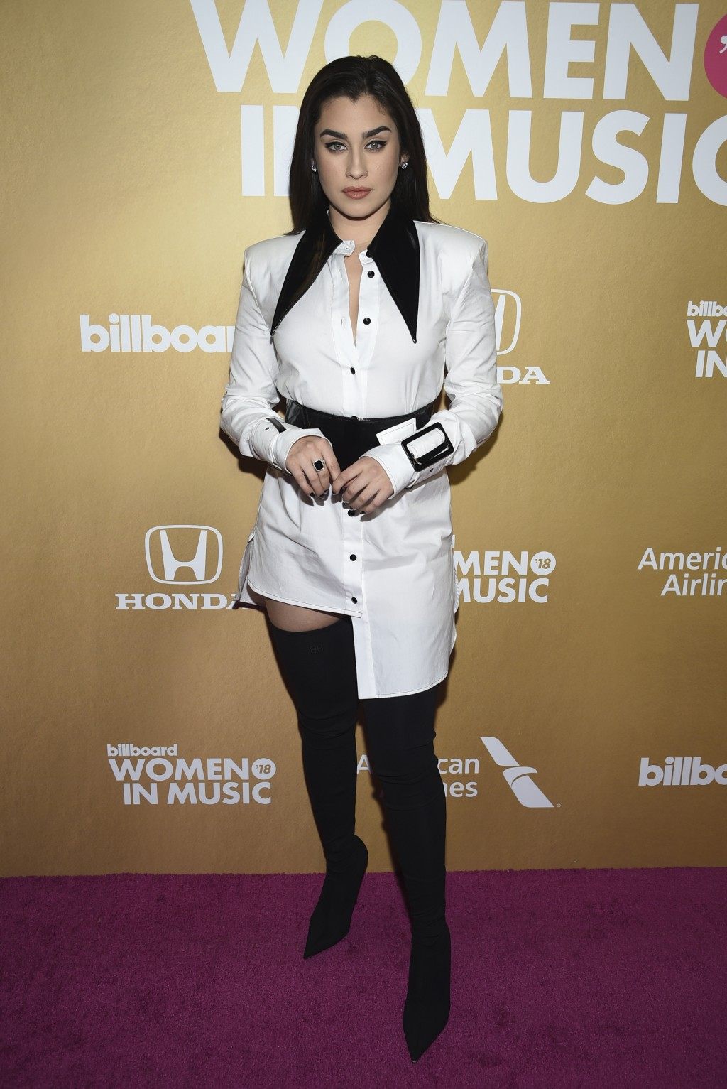 Lauren Jauregui attends the 13th annual Billboard Women in Music event at Pier 36 on Thursday, Dec. 6, 2018, in New York. (Photo by Evan Agostini/Invi