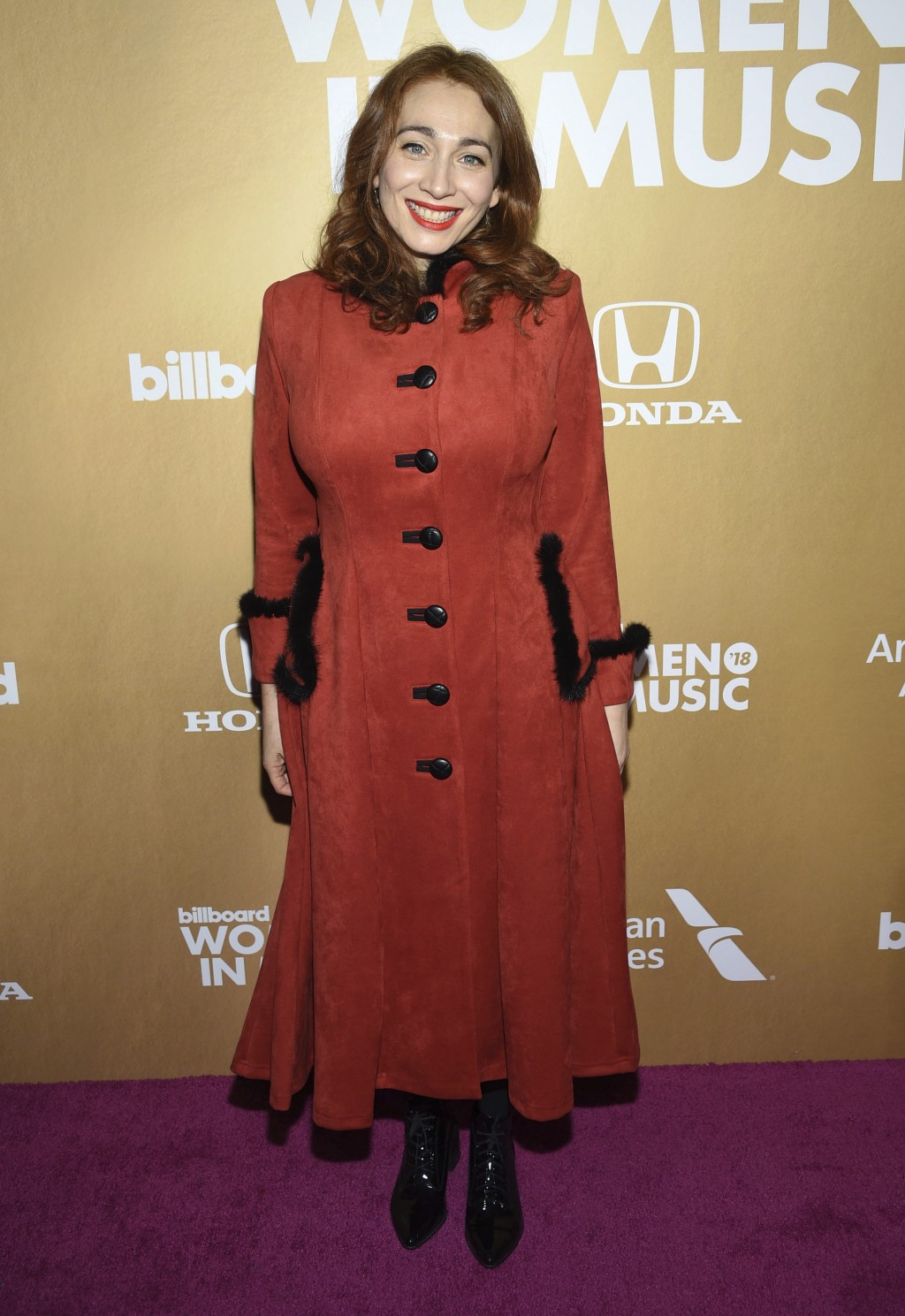 Regina Spektor attends the 13th annual Billboard Women in Music event at Pier 36 on Thursday, Dec. 6, 2018, in New York. (Photo by Evan Agostini/Invis