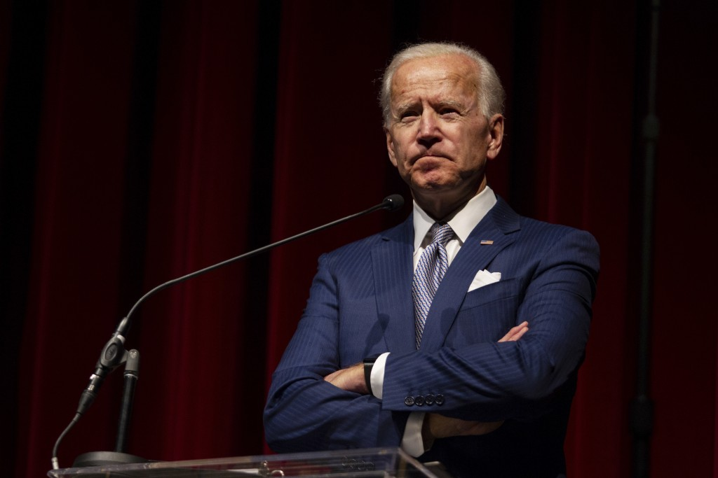 FILE - In this Saturday, Dec. 1, 2018 file photo, former Vice President Joe Biden speaks during the UNLV William S. Boyd School of Law 20th Anniversar