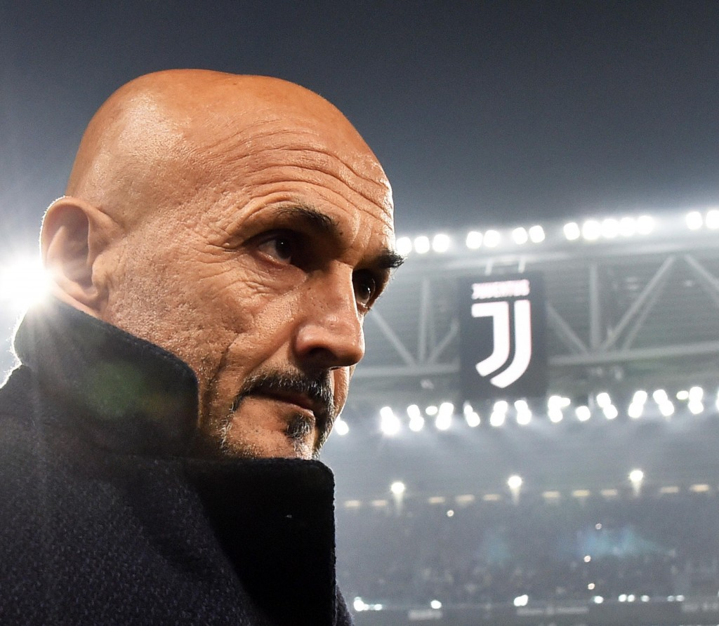Inter Milan coach Luciano Spalletti enters the pitch prior to the Serie A soccer match between Juventus and Inter Milan at the Turin Allianz stadium,