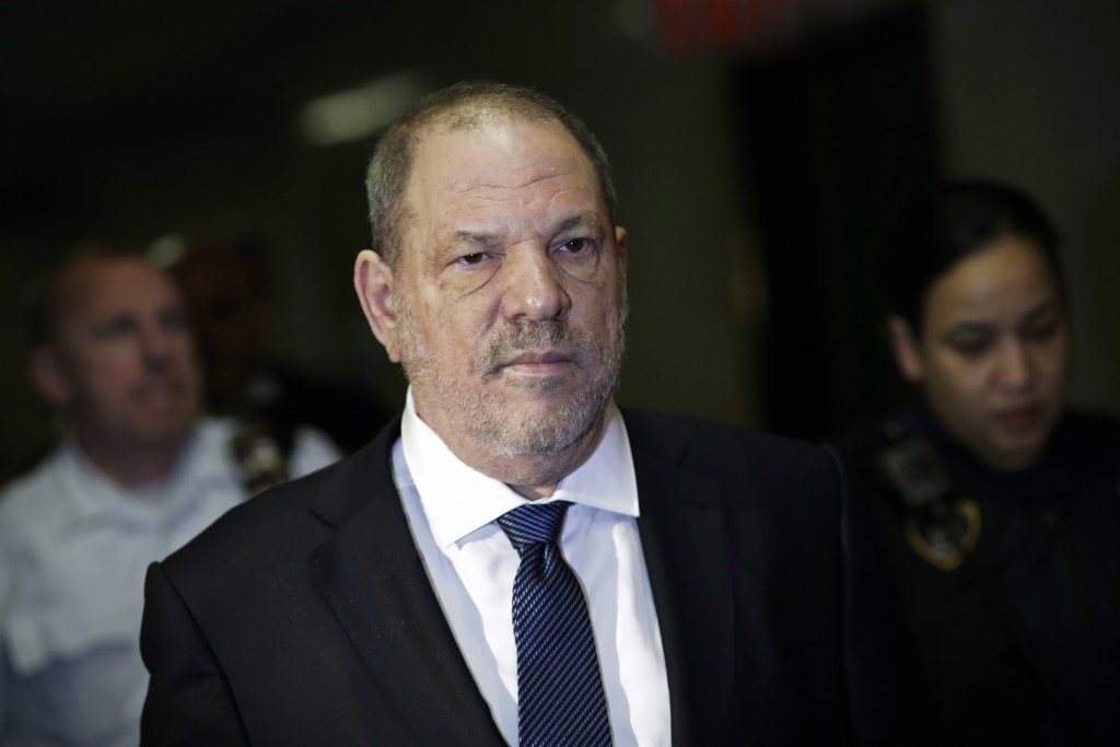 FILE - In this Oct. 11, 2018 file photo, Harvey Weinstein enters State Supreme Court in New York.   Lawyers for Weinstein say they've uncovered new ev
