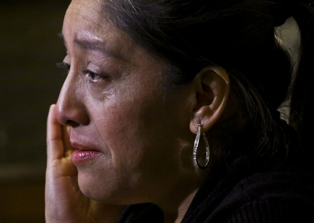 "Victorina Morales becomes tearful during an interview, as she recalls ""humiliating"" treatment at the hands of a supervisor while working at President"