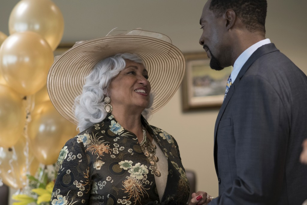 """This image released by Urban Movie Channel shows Daphne Maxwell Reid, left, and Richard Brooks in """"Jacqueline and Jilly,"""" premiering on streaming serv"""