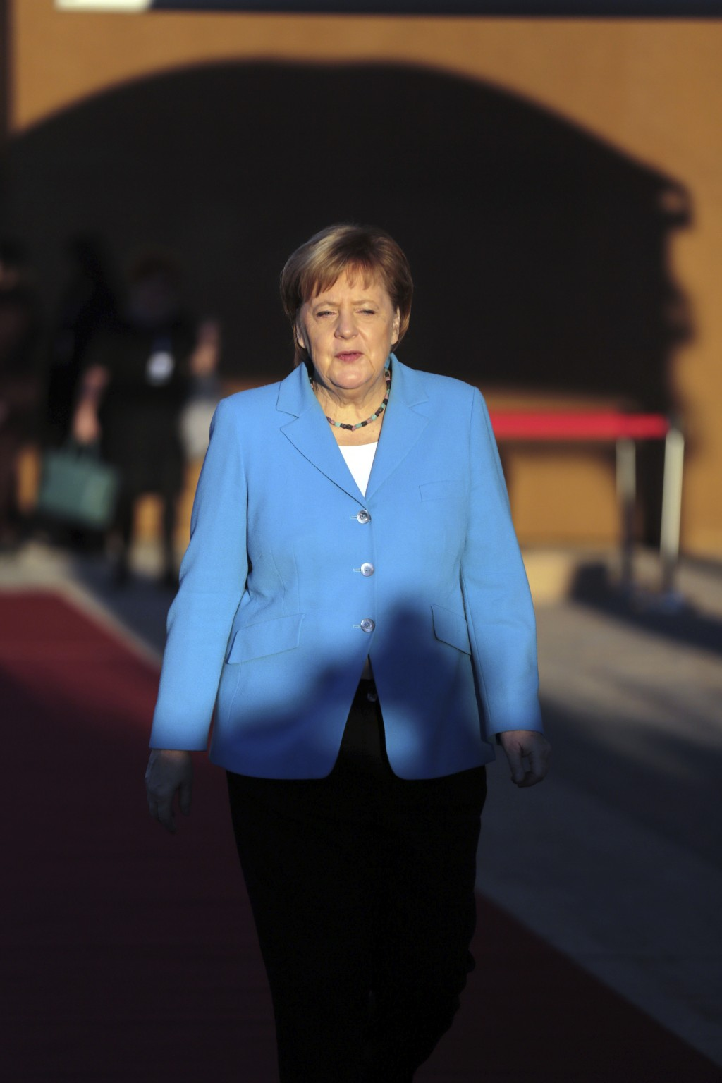 German Chancellor Angela Merkel arrives to attend a UN Migration Conference in Marrakech, Morocco, Monday, Dec.10, 2018. Top U.N. officials and govern