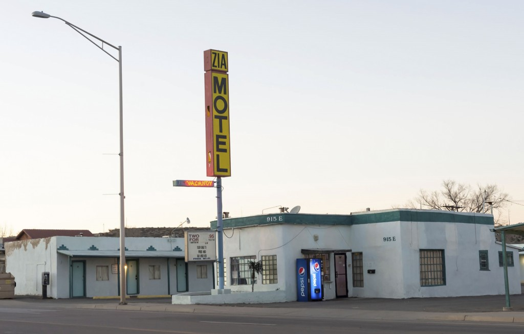 FILE -In this Dec. 12, 2018 file photo the Zia Motel in Gallup, N.M., sits on Historic Route 66. The medical condition of an 8-month-old girl who poli