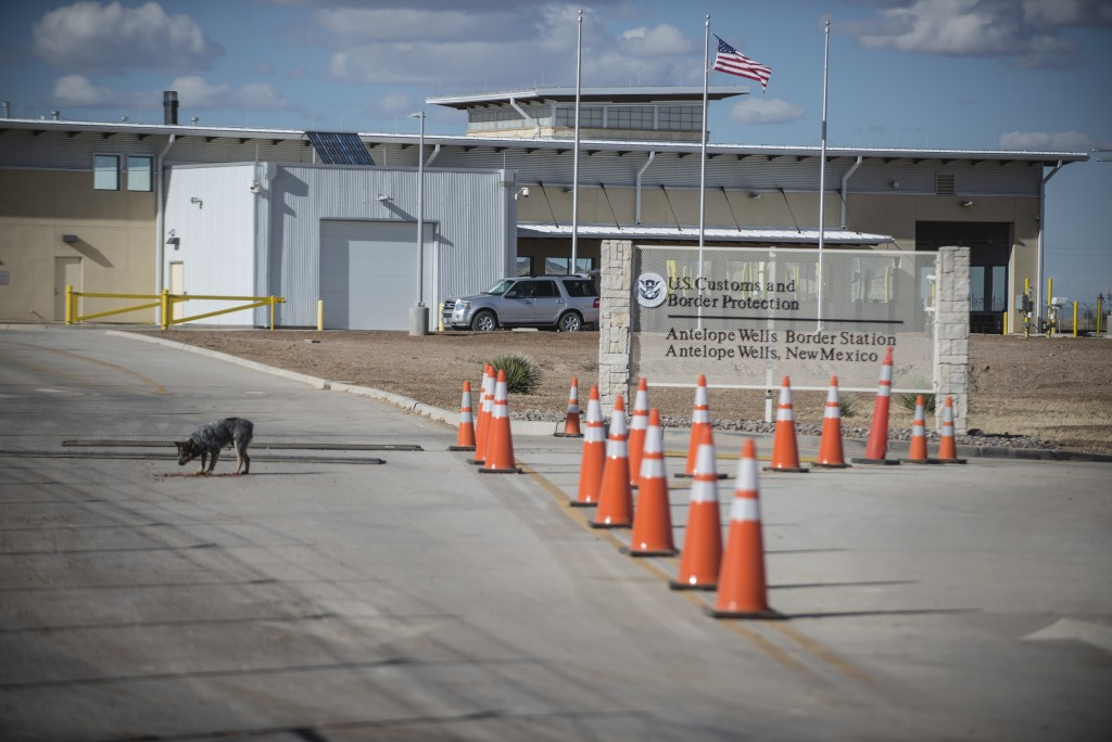 This Jan. 7, 2017 photo, shows the Antelope Wells port of entry from the El Berrendo, Mexico, side of the border with southern New Mexico. U.S. immigr...