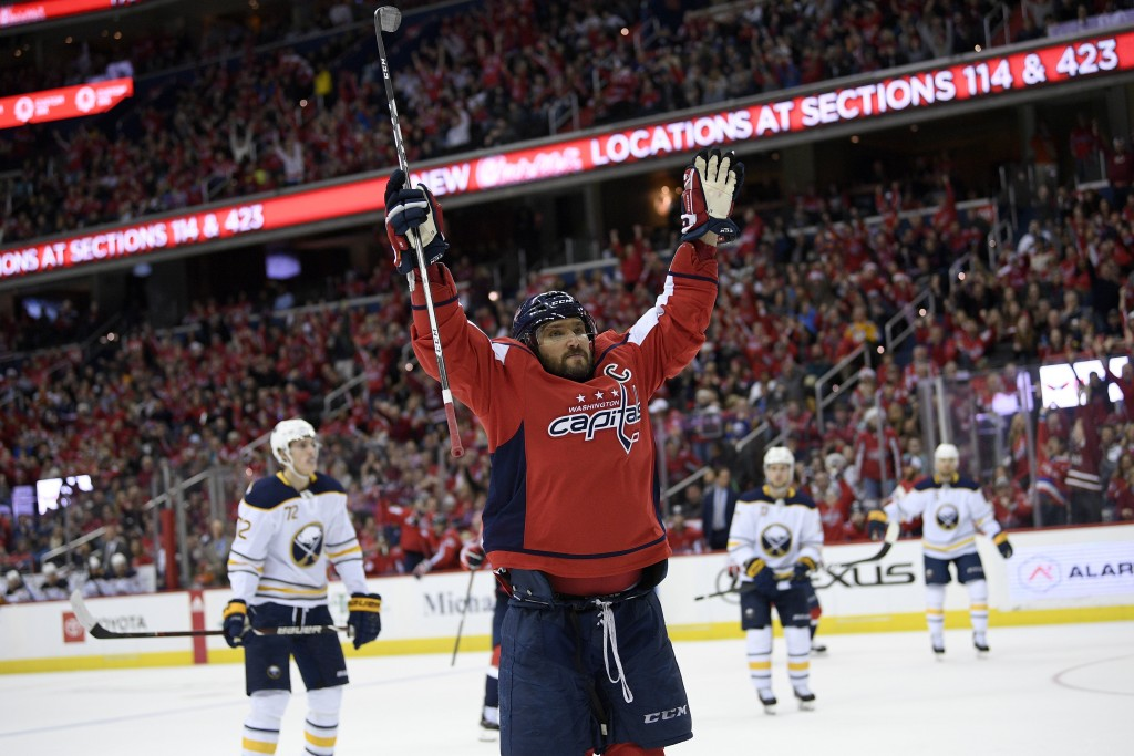 Alex Ovechkin Extends Point Streak to 14 Games as Caps Beat Sabres