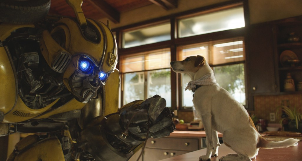 "This image released by Paramount Pictures shows Bumblebee in a scene from ""Bumblebee."" (Paramount Pictures via AP)"