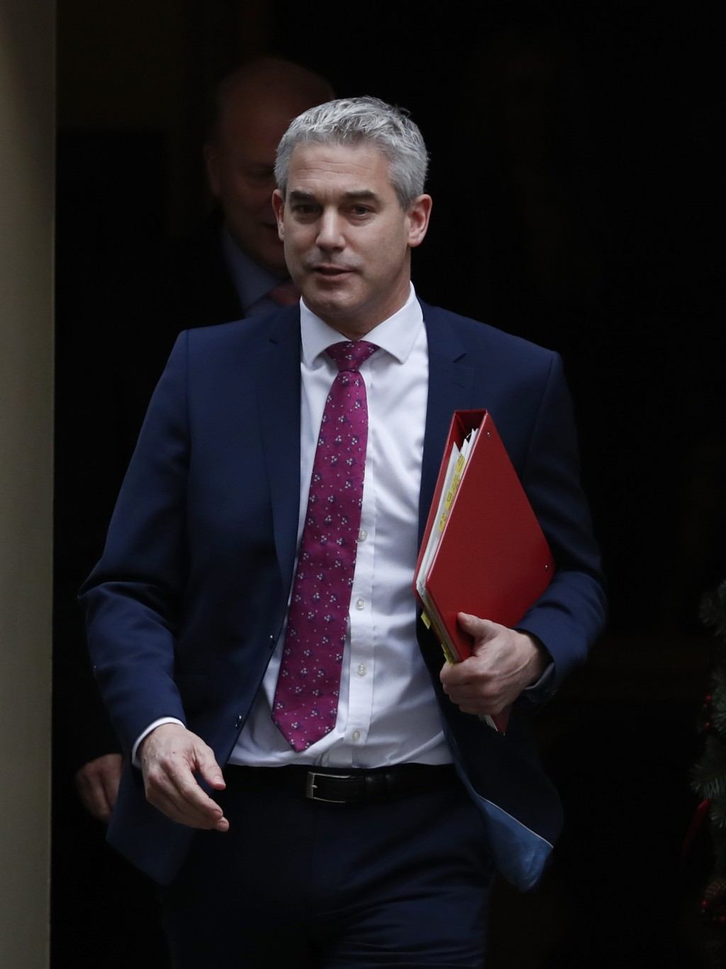 Stephen Barclay the Secretary of State for leaving the EU, walks out of 10 Downing Street, following a cabinet meeting in London Tuesday, Dec. 18, 201...
