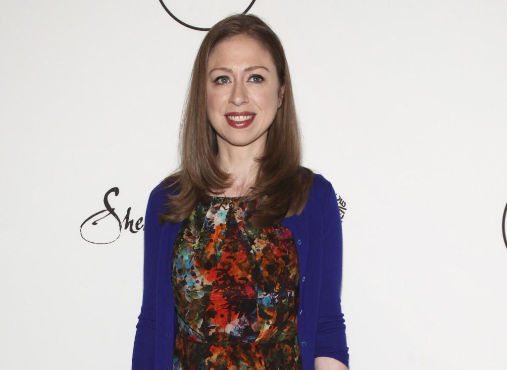 FILE - In this April 21, 2017 file photo, Chelsea Clinton attends Variety's Power of Women: New York Presented by Lifetime in New York. Clinton is col...