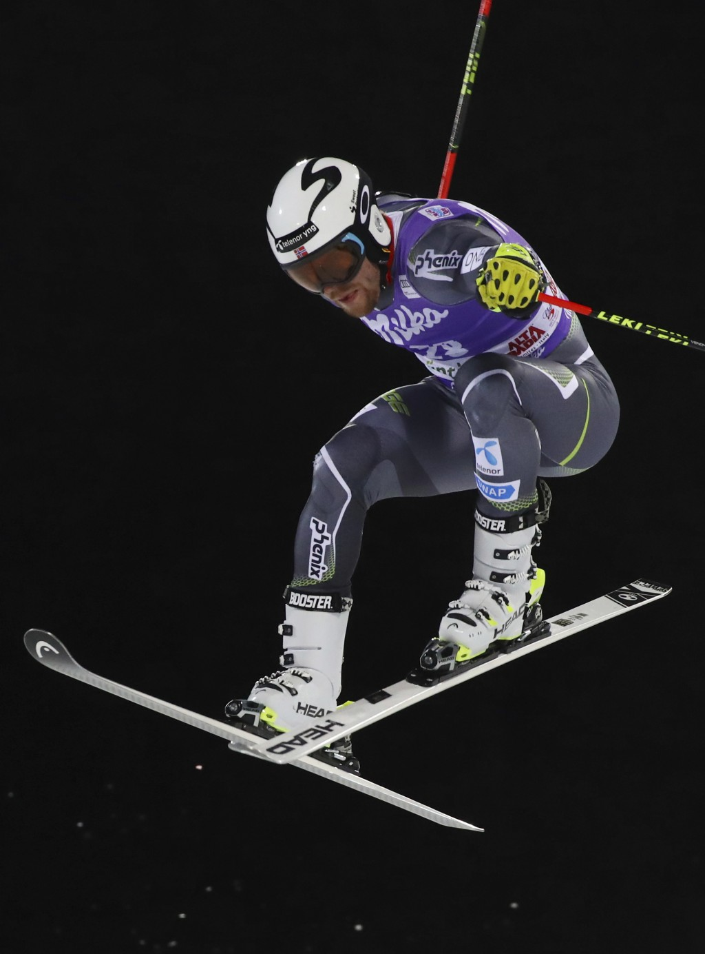 Norway's Aleksander Aamodt Kilde speeds down the course during a ski World Cup men's Parallel Giant Slalom, in Alta Badia, Italy, Monday, Dec. 17, 201...