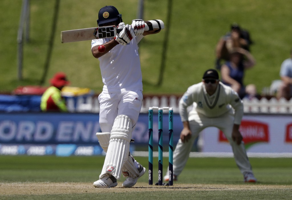 078e2750 Sri Lanka's Kusal Mendis bats during play on day four of the first cricket  test between