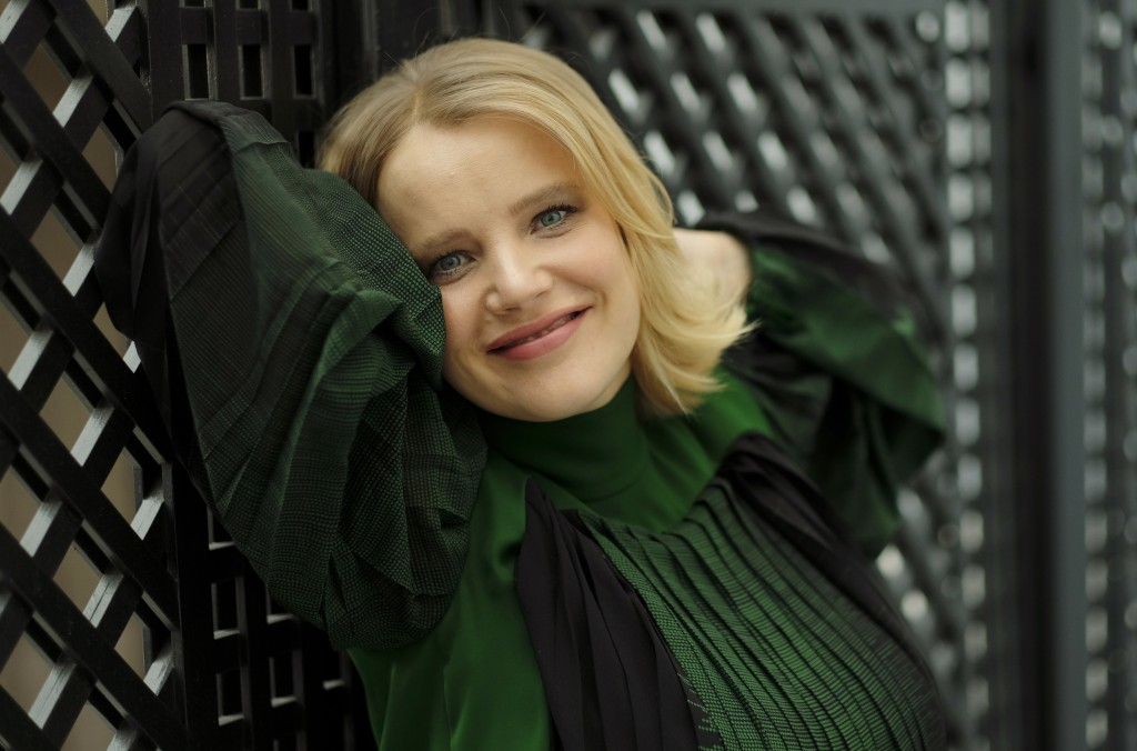 """In this Dec. 3, 2018 photo, Joanna Kulig, a cast member in the Polish film """"Cold War,"""" poses for a portrait at the The London West Hollywood hotel in"""