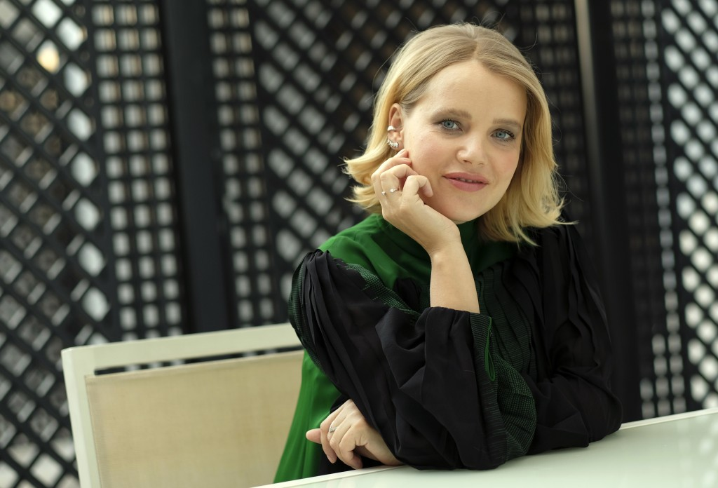 """In this Dec. 3, 2018 photo, Joanna Kulig, a cast member in the Polish film """"Cold War,"""" poses for a portrait at the The London West Hollywood hotel in ..."""