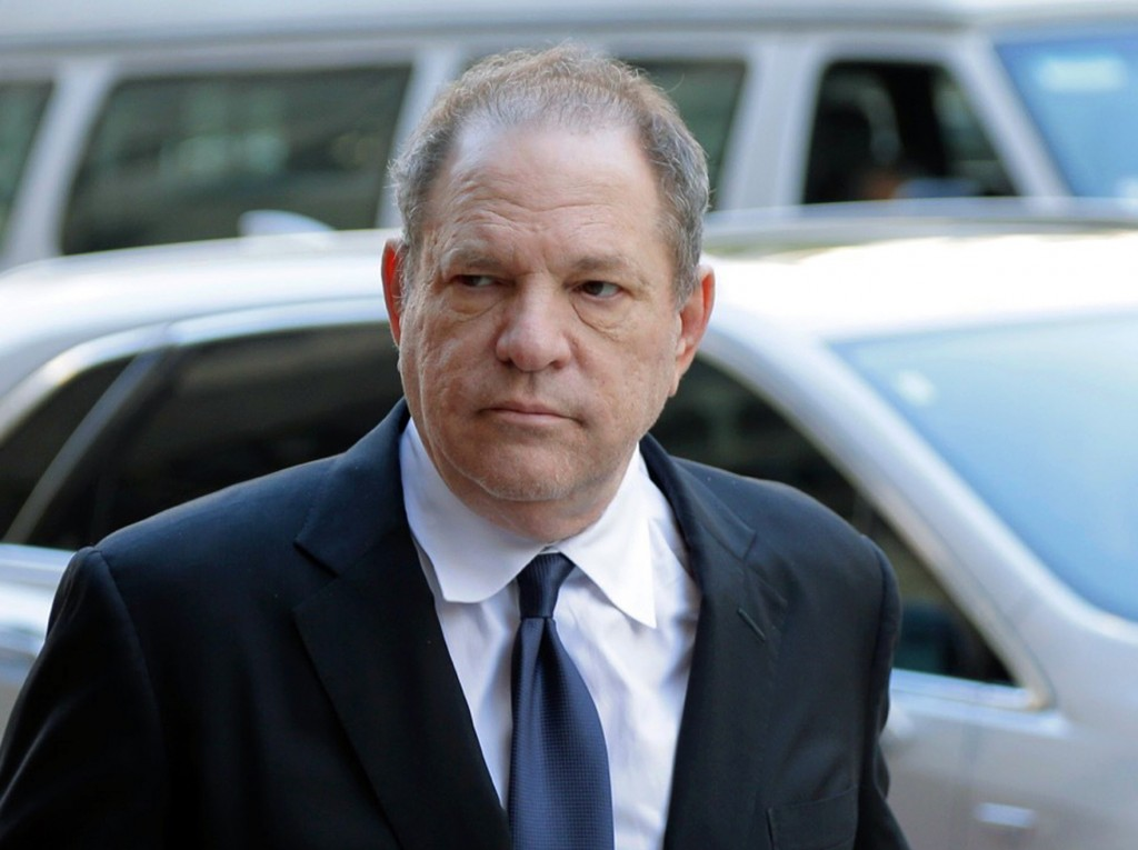 FILE - In this July 9, 2018 file photo, Harvey Weinstein arrives to court in New York. A New York judge is weighing whether to dismiss Harvey Weinstei...