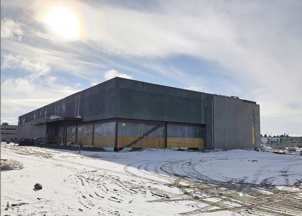 This Nov. 29, 2018 photo shows the new Cyber Integration Center being built in Idaho Falls, Idaho, that will be ready next fall. It's part of an effor...