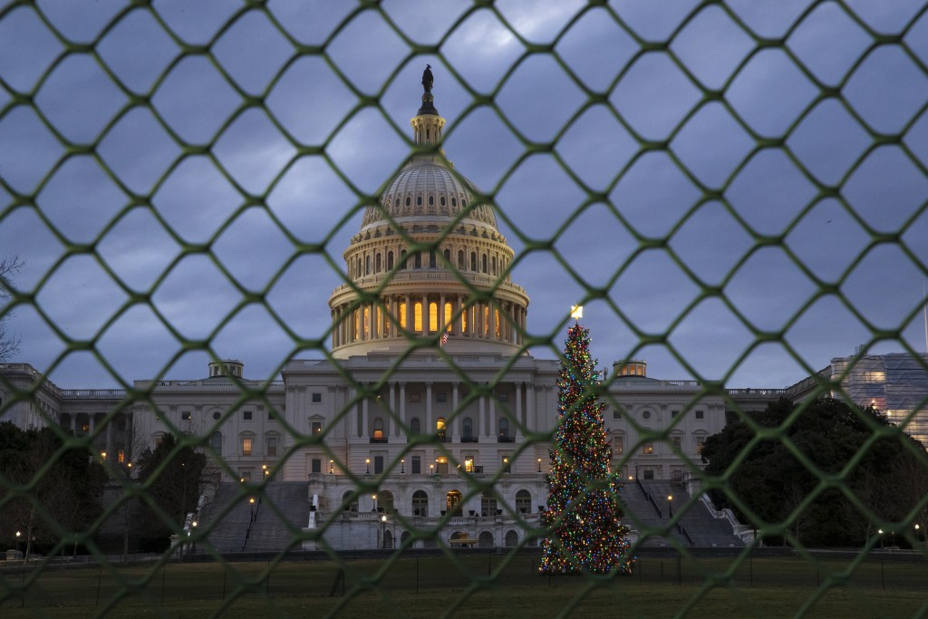 The Capitol is seen on the first morning of a partial government shutdown, as Democratic and Republican lawmakers are at a standoff with President Don...