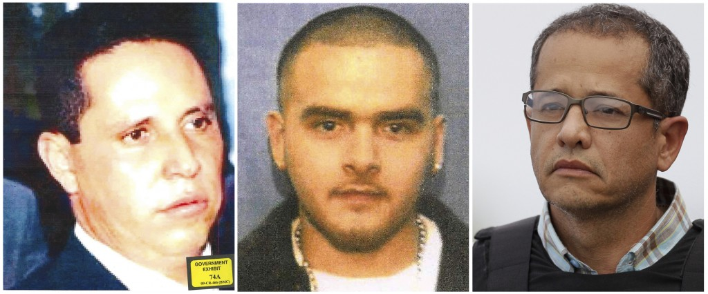 """This photo combination shows three former associates of Mexican drug lord Joaquin """"El Chapo"""" Guzman who are now cooperating with the United States Att..."""