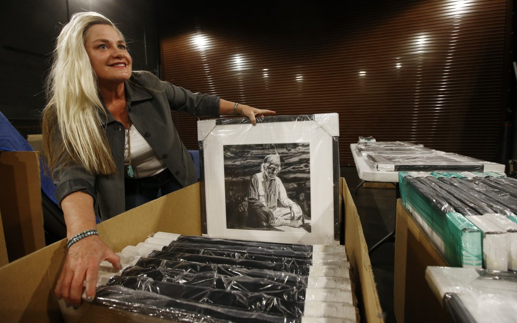 Alison Goldwater Ross, the granddaughter of former Arizona Sen. Barry Goldwater who is trying to save and digitize her grandfather's photographic arch