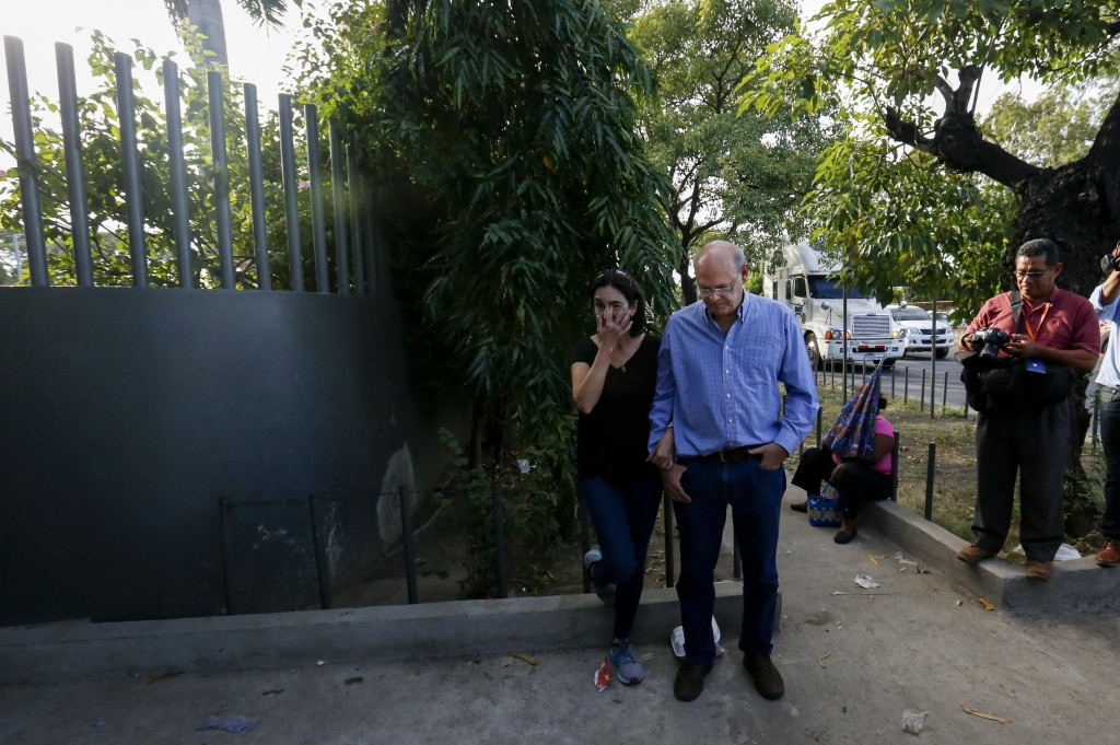 In this Dec. 17, 2018 photo, Carlos Fernando Chamorro arrives outside Central Courts in Managua, Nicaragua. The founder of the independent news outlet