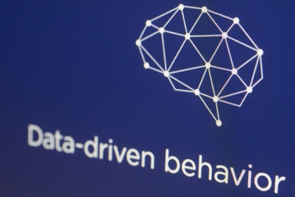 FILE - In this April 18, 2018, file photo, a graphic from the Cambridge Analytica website is displayed on a computer screen in New York. Among the mos...
