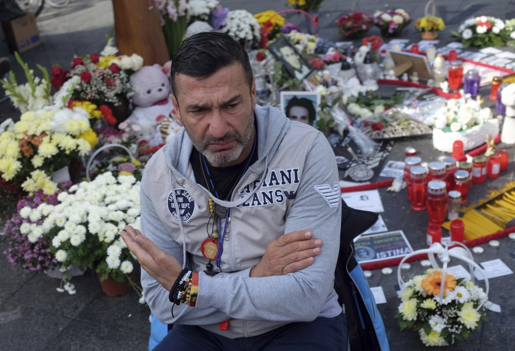 FILE - In this Oct. 6, 2018, file photo, Davor Dragicevic, father of 21-year-old David Dragicevic speaks during an interview with the Associated Press...