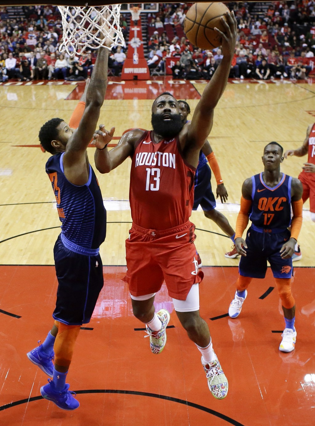 1585e20c855f Harden s 41 helps Rockets over Thunder 113-10...