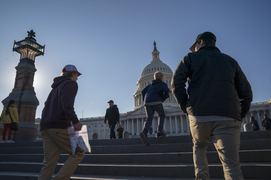 People visit the Capitol as a shutdown affecting parts of the federal government appeared no closer to ending, with President Donald Trump and congres