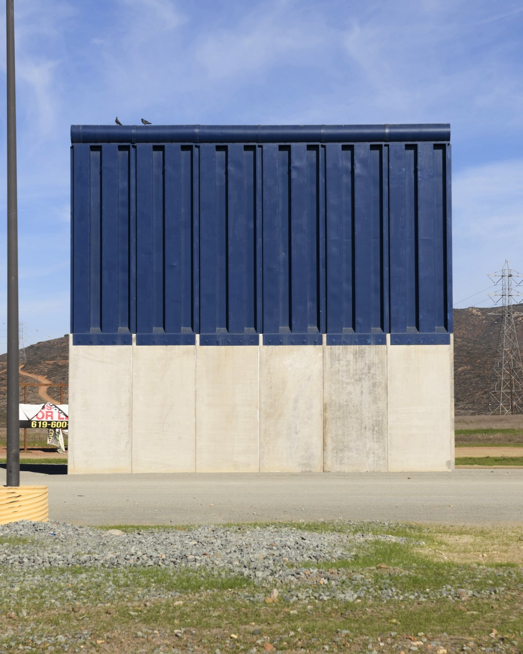 A border wall prototype stands in San Diego near the Mexico-U.S. border, seen from Tijuana, Mexico, Saturday, Dec. 22, 2018. (AP Photo/Daniel Ochoa de...