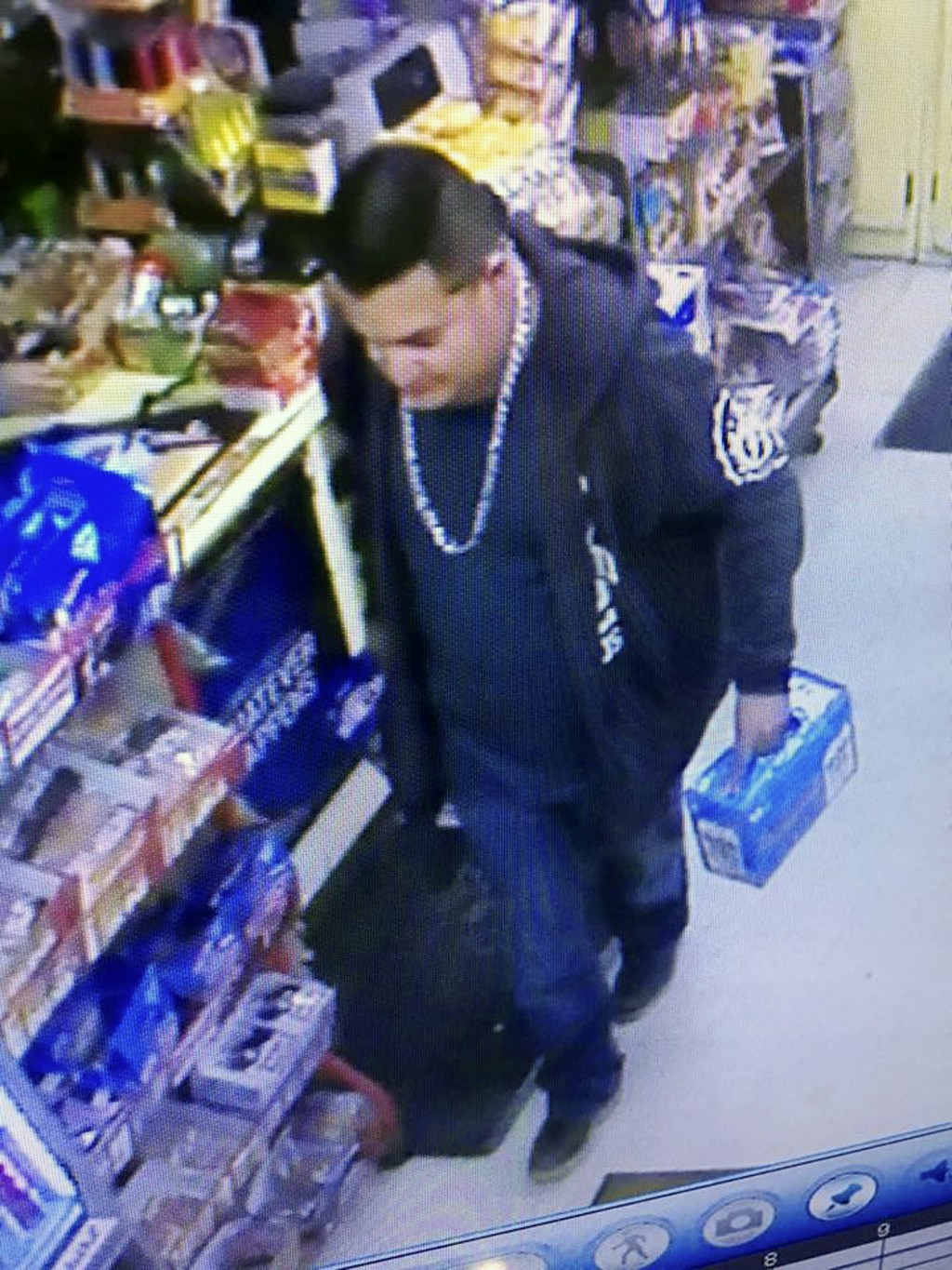 This Wednesday, Dec. 26, 2018 image from a surveillance camera video and provided by the Stanislaus County Sheriff's Department shows a suspect police...