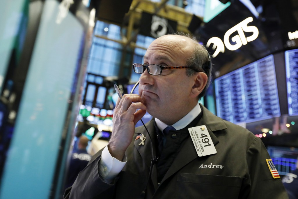 Trader Andrew Silverman works on the floor of the New York Stock Exchange, Thursday, Dec. 27, 2018. Wall Street's wild Christmas week goes on, with th...