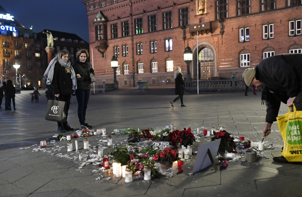 Tributes are placed in memory of two Scandinavian university students who were killed in a remote area of the Atlas Mountains in Morocco, at the Town ...