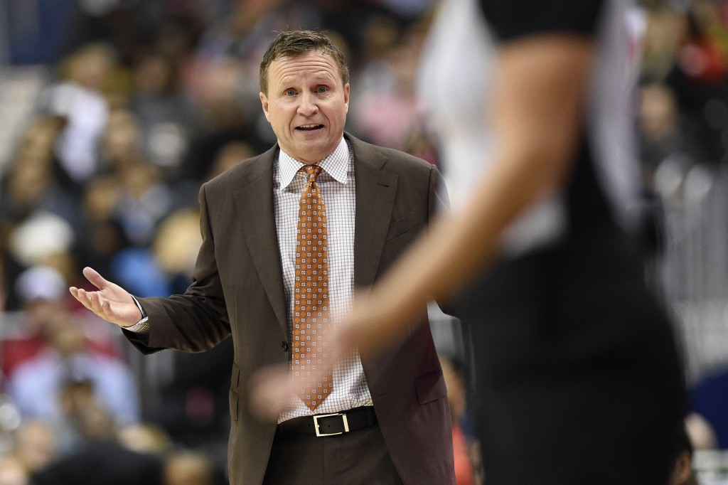 Washington Wizards head coach Scott Brooks gestures during the second half of an NBA basketball game against the Chicago Bulls, Friday, Dec. 28, 2018,...