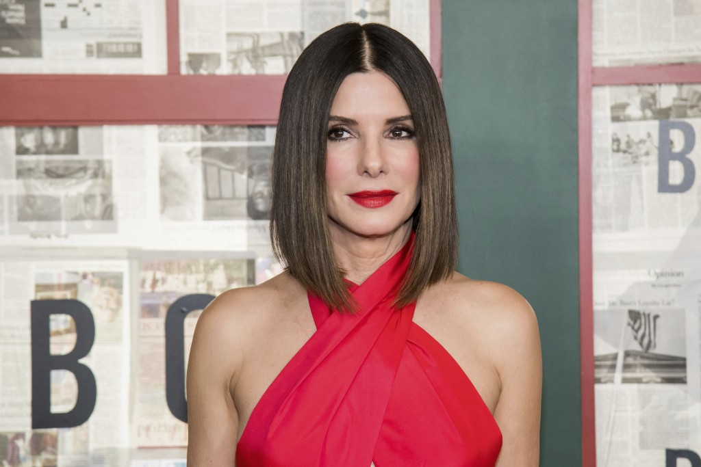 """FILE - In this Monday, Dec. 17, 2018 file photo, Sandra Bullock attends a screening of """"Bird Box"""" at Alice Tully Hall in New York. Released just days ..."""