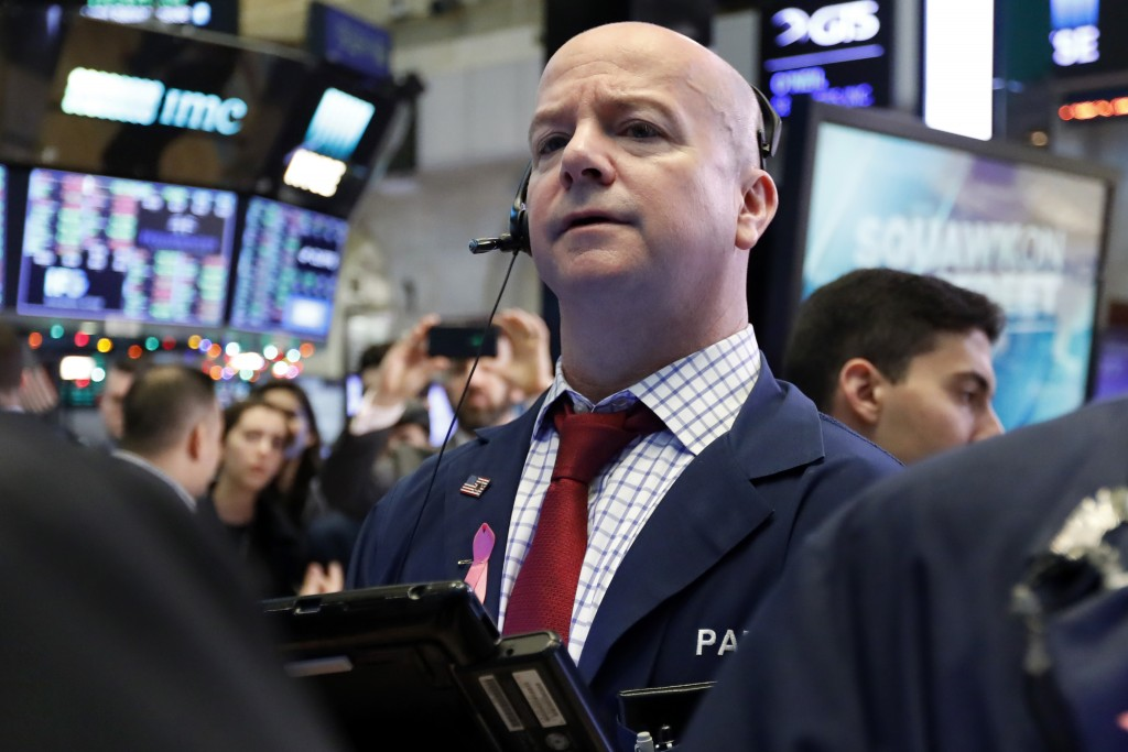 Trader Patrick Casey works on the floor of the New York Stock Exchange, Friday, Dec. 28, 2018. Stocks are opening higher Friday as U.S. markets try to...
