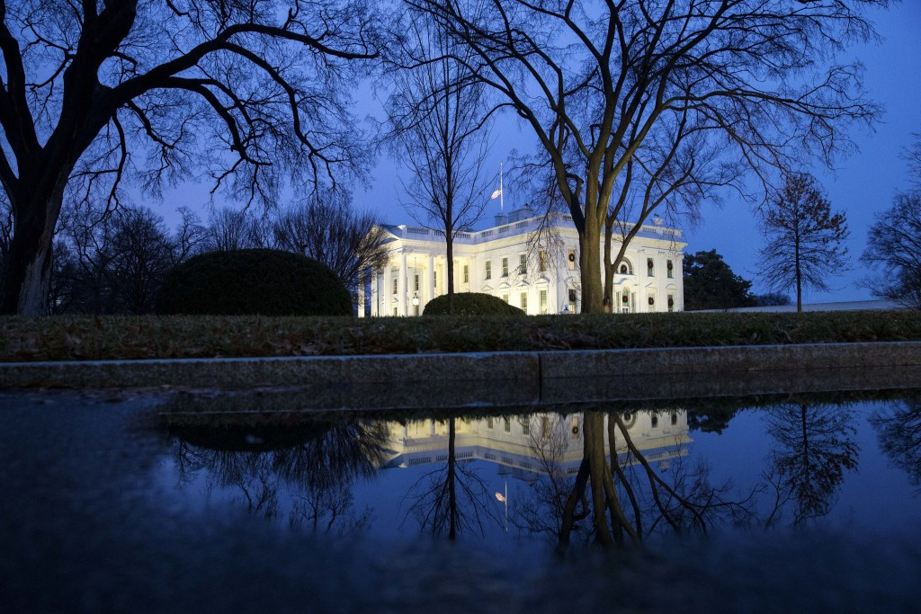The North Portico of the White House is seen, Friday, Dec. 28, 2018, in Washington. The partial government shutdown will almost certainly be handed of