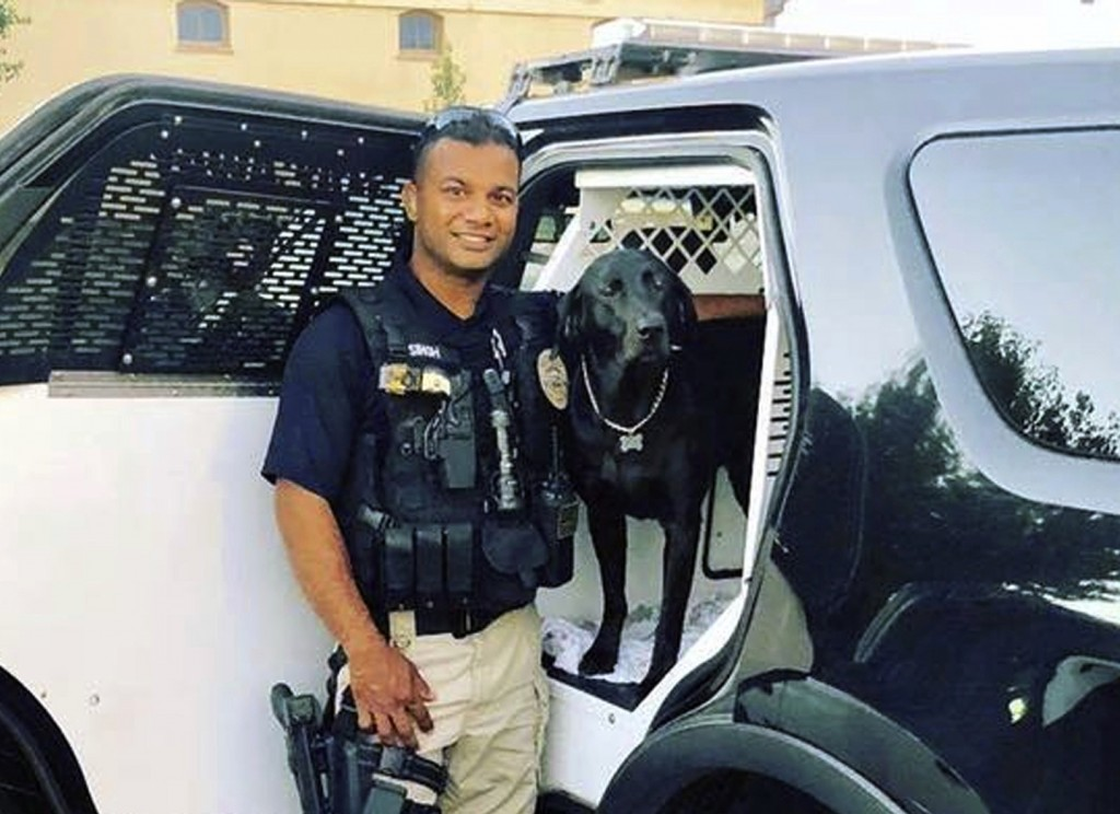 FILE - This undated file photo provided by the Newman Police Department shows officer Ronil Singh who was killed on duty conducting a traffic stop ear...